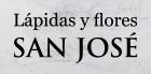 Lápidas y flores San José